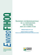 Incidence environnementale de la fertilisation des pelouses sur les cours d'eau